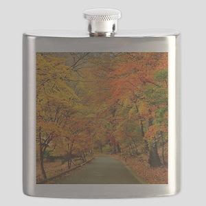 Park At Autumn Flask
