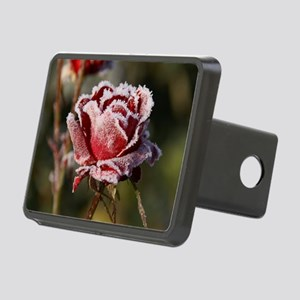 Rose With Frost On It Rectangular Hitch Cover