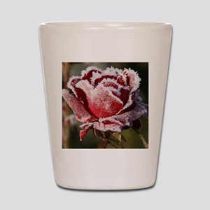 Rose With Frost On It Shot Glass