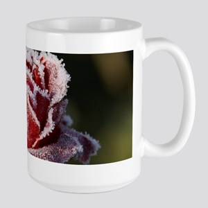 Rose With Frost On It Mugs