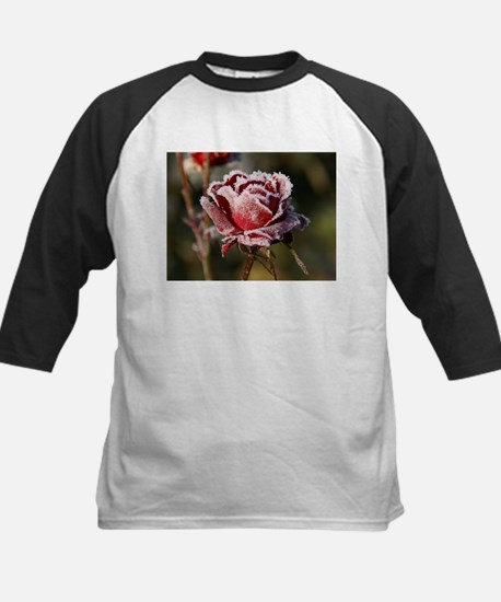 Rose With Frost On It Baseball Jersey