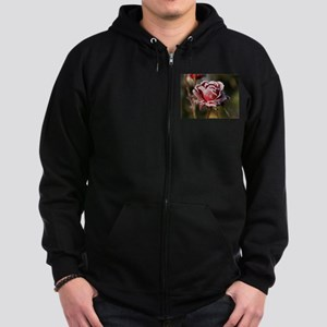 Rose With Frost On It Zip Hoody