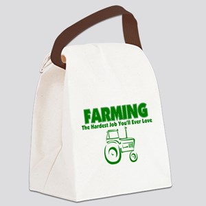 Farming Hardest Job You'll Ever L Canvas Lunch Bag