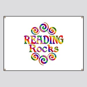 Colorful Reading Rocks Banner