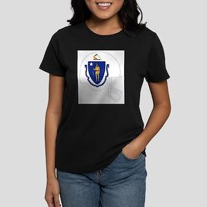 Massachusetts State Flag Football Helmet T-Shirt