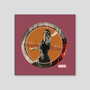 "Agent Carter Comic Target Square Sticker 3"" x 3"""