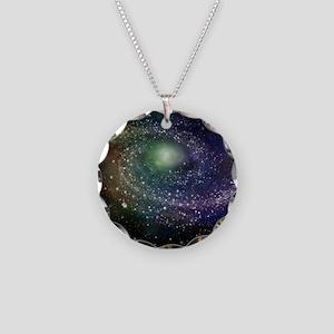 'Rainbow Galaxy' Necklace Circle Charm