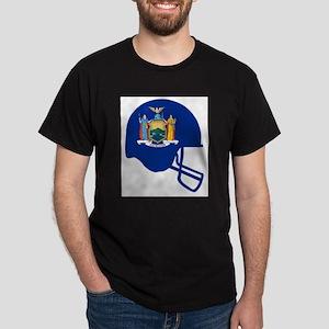 New York State Flag Football Helmet T-Shirt