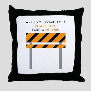 Road Block Throw Pillow