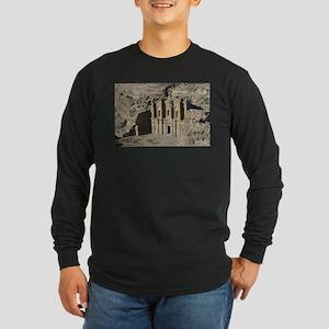 Ancient Petra Collection Long Sleeve Dark T-Shirt
