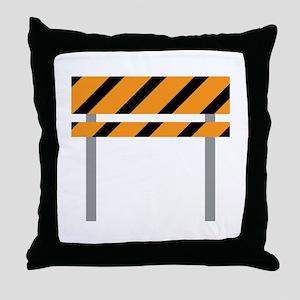 Road Barricade Throw Pillow