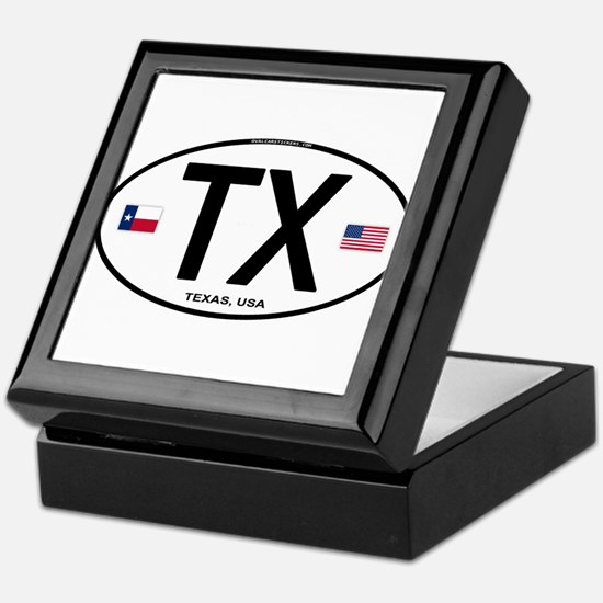 Texas Euro Oval - TX Keepsake Box