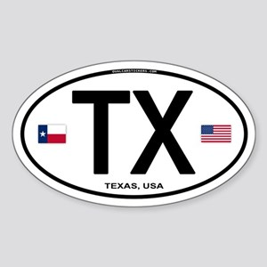 Texas Euro Oval - TX Oval Sticker