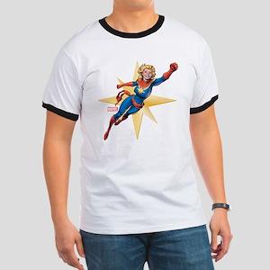 Captain Marvel Flying Ringer T
