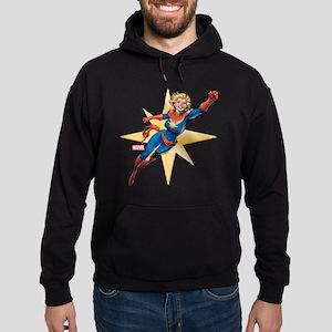 Captain Marvel Flying Hoodie (dark)