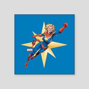 """Captain Marvel Flying Square Sticker 3"""" x 3"""""""