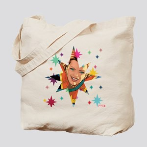 Captain Marvel Stars Tote Bag
