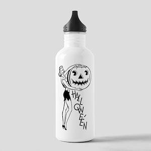 Happy Halloween Lady Water Bottle