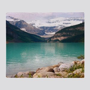 mountain landscape lake louise Throw Blanket