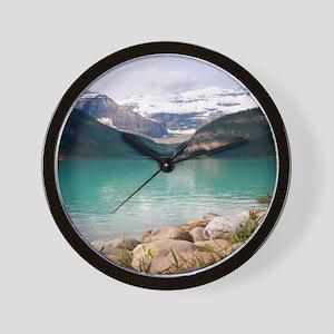 mountain landscape lake louise Wall Clock