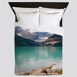 mountain landscape lake louise Queen Duvet