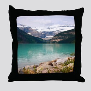 mountain landscape lake louise Throw Pillow