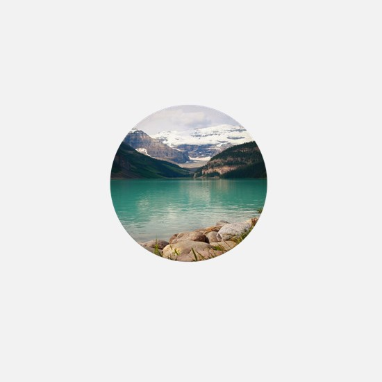 mountain landscape lake louise Mini Button