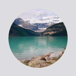mountain landscape lake louise Round Ornament