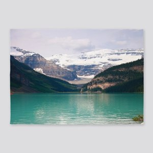 mountain landscape lake louise 5'x7'Area Rug