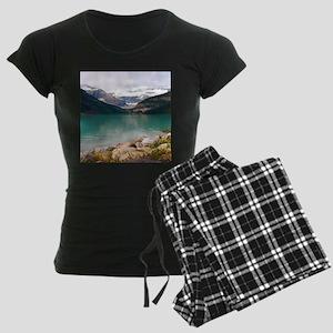 mountain landscape lake loui Women's Dark Pajamas