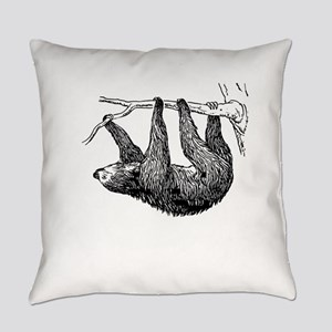 Vintage Sloth Hang In There Everyday Pillow