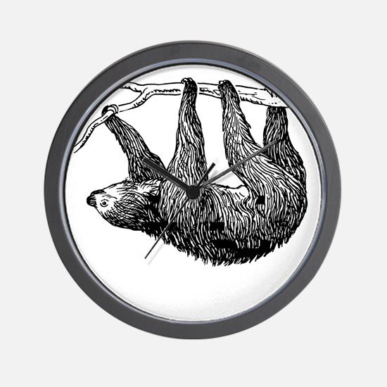 Vintage Sloth Hang In There Wall Clock