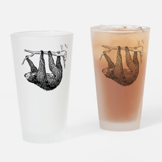 Vintage Sloth Hang In There Drinking Glass