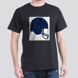 Alaska State Flag Football Helmet T-Shirt
