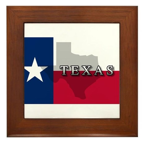 Texas Flag Extra Framed Tile