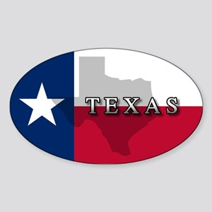 Texas Flag Extra Oval Sticker