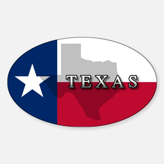 Texas Flag Extra Oval Decal