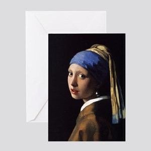 girl with a pearl Greeting Card