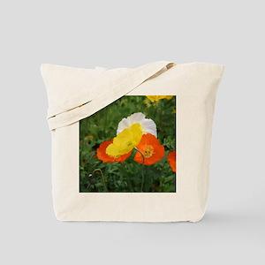 bold red poppy flower Tote Bag