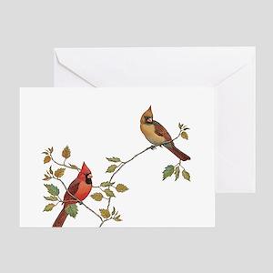 Cardinal Couple Greeting Cards
