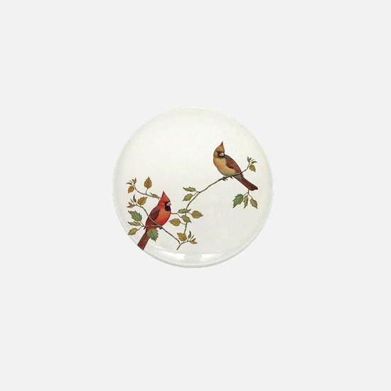 Cardinal Couple Mini Button (10 pack)