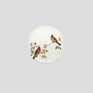 Cardinal Couple Mini Button