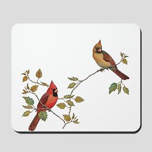Cardinal Couple Mousepad
