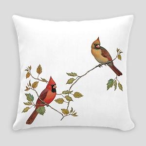 Cardinal Couple Everyday Pillow