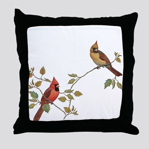 Cardinal Couple Throw Pillow