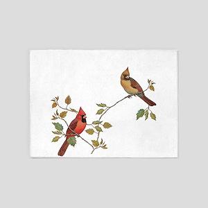 Cardinal Couple 5'x7'Area Rug