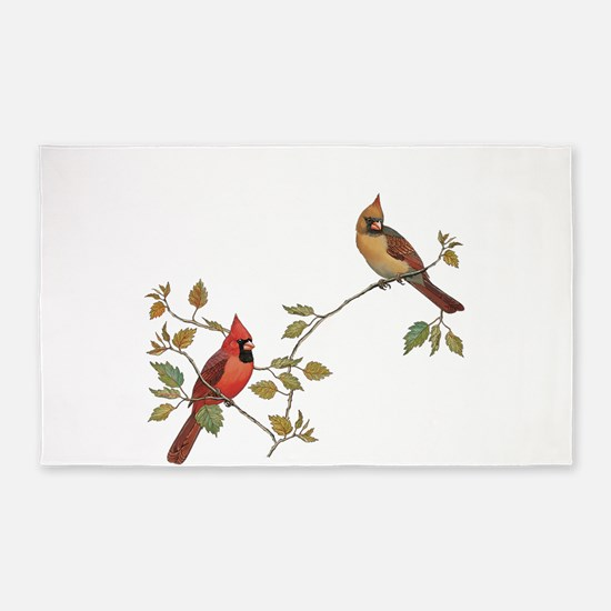 Cardinal Couple Area Rug