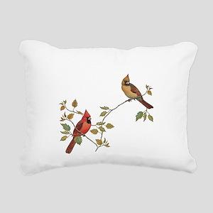 Cardinal Couple Rectangular Canvas Pillow
