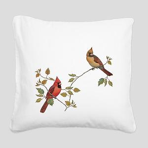 Cardinal Couple Square Canvas Pillow