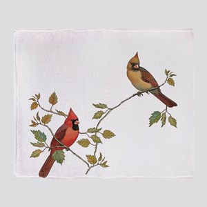 Cardinal Couple Throw Blanket